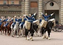 De koninklijke verandering van de Wacht, Stockholm royalty-vrije stock afbeeldingen