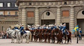 De koninklijke verandering van de Wacht, Stockholm stock fotografie