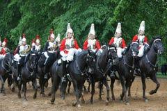 De koninklijke Wachten van het Paard in Londen Stock Fotografie