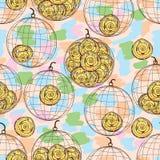 De kooi naadloos patroon van de wervelingsmascotte Stock Foto's