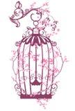 De kooi van de de lentevogel royalty-vrije illustratie