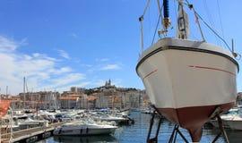 De Kooi van de Provence d'Azur, de Oude haven van Frankrijk - van Marseille stock foto's
