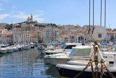 De Kooi van de Provence d'Azur, de Oude haven van Frankrijk - van Marseille Stock Afbeeldingen