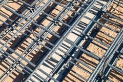 De kooi van de staalstaaf Royalty-vrije Stock Afbeeldingen