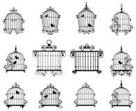 De kooi van de vogel Royalty-vrije Stock Foto