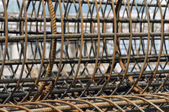 De Kooi van het staal Stock Foto's