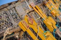 De kooien van de zeekreeft   Stock Foto's