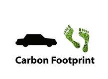 De koolstofvoetafdruk van de luchtvaartlijn Stock Foto's