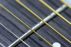 De koorden en de lijstwerken van de gitaar royalty-vrije stock fotografie