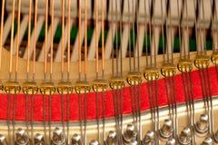 De koorden van de piano in macro Stock Fotografie