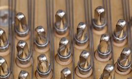 De koorden van de piano in macro Royalty-vrije Stock Afbeelding