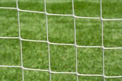 De koordenclose-up van het voetbal netto netwerk Stock Foto's