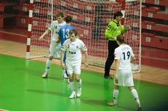 De Kop 2008-2009 van UEFA Futsal Stock Foto's