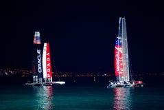De Kop 2012 van Amerika van Napoli bij nacht Royalty-vrije Stock Foto's