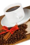 De kop, de gewassen en het document van de koffie Stock Fotografie
