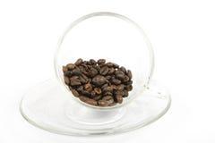 De kop en de bonen van de koffie Royalty-vrije Stock Foto