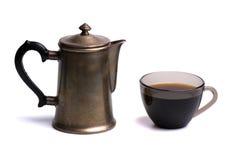De kop en de pot van de koffie Stock Afbeeldingen