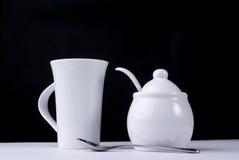 De kop en de suiker van de koffie Stock Afbeelding