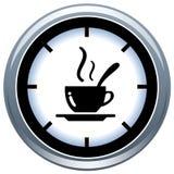De Kop en de Tijd van Coffe Stock Illustratie