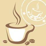De Kop en de Zegel van de koffie Stock Foto