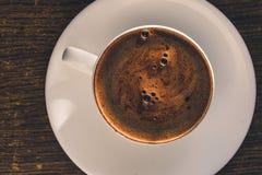 De kop hoogste mening van de koffie stock afbeeldingen