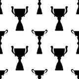 De kop naadloos patroon van de winnaartrofee Stock Afbeelding