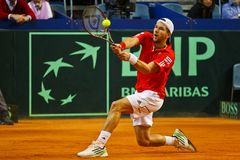 De Kop Oostenrijk van Davis van het tennis versus Frankrijk Stock Afbeeldingen