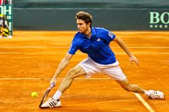 De Kop Oostenrijk van Davis van het tennis versus Frankrijk Stock Foto