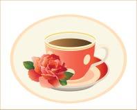 De kop thee met nam toe vector illustratie