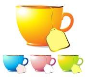 De Kop thee van de kleur Stock Fotografie
