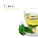 De kop thee van het glas Stock Foto's