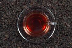 De kop thee van het glas Stock Afbeeldingen