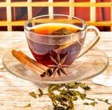 De kop thee wijst op Theekopjes en Verfrissingen verfrist royalty-vrije stock fotografie