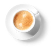 De kop van cappuccino's stock fotografie