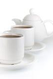 De kop van Coffe die op witte achtergrond wordt geïsoleerd Royalty-vrije Stock Foto