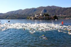 De Kop van Cusio, Olympische Triathlon Royalty-vrije Stock Foto