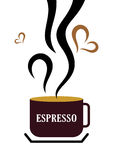 De Kop van de espresso Stock Fotografie