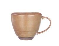 De kop van de koffie die op wit wordt geïsoleerdk royalty-vrije stock foto