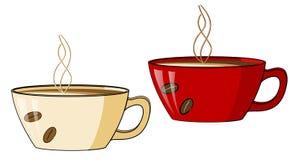 De kop van de koffie met een hete stoom stock illustratie