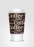 De kop van de koffie met etiket vector illustratie