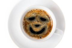 De kop van de koffie met glimlach Royalty-vrije Stock Afbeeldingen