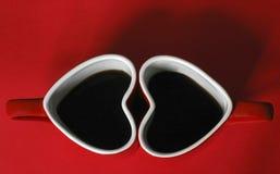 De kop van de koffie met hart stock foto