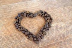 De kop van de koffie met hart Stock Foto's