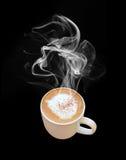De kop van de koffie met stoom Royalty-vrije Stock Foto
