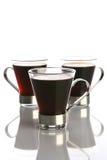 De kop van de koffie met zwarte koffie Stock Afbeeldingen
