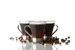De kop van de koffie met zwarte koffie Stock Foto's