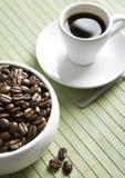 De kop van de koffie op houten raad Royalty-vrije Stock Foto