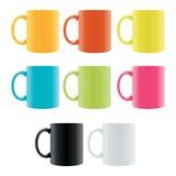 De Kop van de Koffie van de kleur Stock Afbeelding