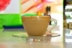 De kop van de Lattekoffie Stock Afbeeldingen