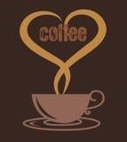 De kop van de liefdekoffie, de vector van de koffiekop Stock Afbeeldingen